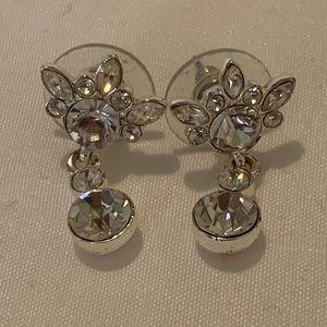 Givenchy Silver Tone Pierced Earrings